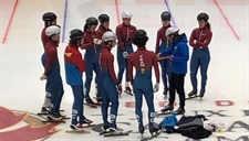 Team BC short track speed skating is competition ready
