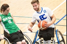 Team BC wheelchair basketball shooting for sixth