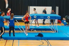 Trampoline athletes get their first taste of action