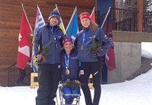 Cross country skiers win two gold, one silver in first day of para events