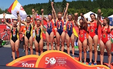 Team BC triathletes dominate for gold women's relay