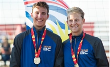 Gold for men's beach volleyball