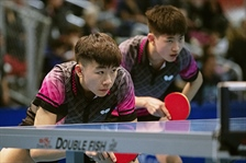 Male Doubles Table Tennis secure Silver Medal