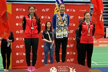 Three gold medals for Team BC badminton