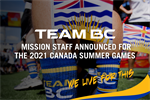 Team BC Mission Staff Announced for the 2021 Canada Summer Games
